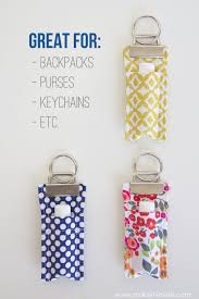 Ideas For Hanging Backpacks Diy Fabric Chapstick Holder Make It And Love It