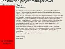 assistant project manager construction cover letter 100 original