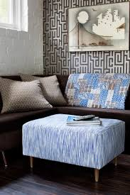 How To Make An Upholstered Ottoman by How To Update An Ottoman With A Flat Weave Rug How Tos Diy
