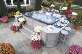 exterior design awesome backyard design with cozy bullfrog spas