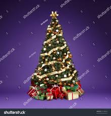 stock photo beautifully decorated tree with