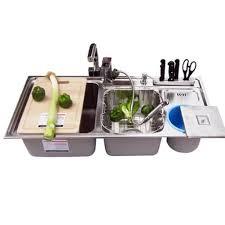 kitchen sink bowls terraneg within kitchen faucet for triple bowl