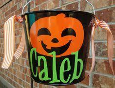 halloween bucket personalized halloween bucket by dotteddesigns