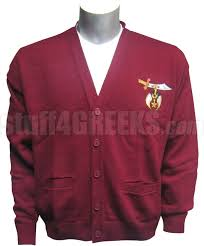 maroon sweaters shriners crest cardigan maroon