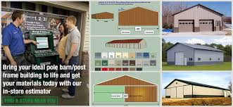 How To Build A Wood Floor With Pole Barn Construction by Pole Barn Post Frame Estimator At Menards