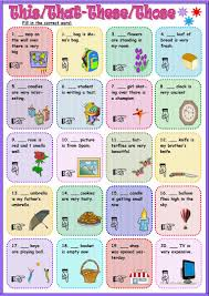24 free esl pronouns this that these those demonstratives