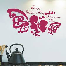 mothers day stickers jjrui happy mothers day wall window stickers decals shop