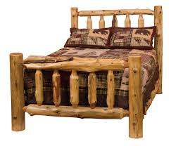 Cheap Log Bed Frames Rustic Cedar Log Bed Cottage 10100 Ex Log Bedroom