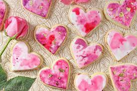 Valentine S Day Decorated Sugar Cookies by Watercolor Rose Sugar Cookies Sugarhero