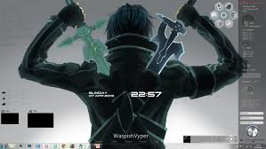 theme google chrome sword art online sword art online rainmeter skins bellacoola co