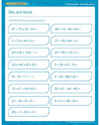 math practice worksheets 7th grade worksheets