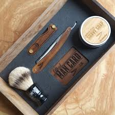 Old Fashioned Shave Kit Personalized Straight Razor Shave Kit In A Handmade Cigar Box