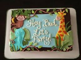 jungle baby shower cakes jungle animals baby shower cakes