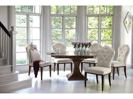 bernhardt haven single pedestal round dining table belfort