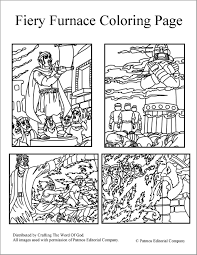 fiery furnace coloring pages crafting the word of god