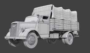 opel truck ww2 artstation opel blitz kaan cakir
