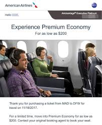 American Platinum Desk You U0027re Now Able To Purchase Aa Premium Economy Seats
