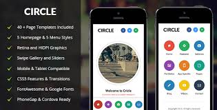 circle mobile mobile template by enabled themeforest