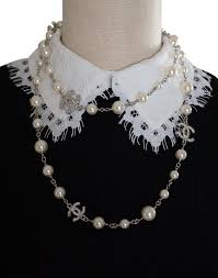 long silver crystal necklace images Chanel silver classic white pearl long cc crystal logos 42 jpg