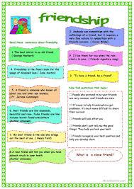 41 free esl friendship worksheets