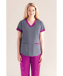 s contrast scrub top nrg stretch scrubs cheap fashion scrubs