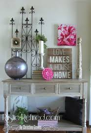 adding touches of spring around the house rustic u0026 refined