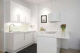 Modern Kitchen Design For Small Apartment With White Wooden - Apartment kitchens designs