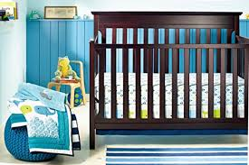 new baby boy ocean whale 8pcs crib bedding set with bumper