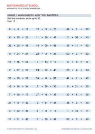 addition worksheets adding two numbers sums up to 50