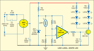 simple strip led lamp circuit diagram electrical u0026 electronics
