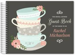 bridal shower guestbook custom bridal shower guest books bridal party guestbooks