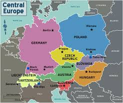 Europe Map With Capitals by Central Europe Regions U2022 Mapsof Net