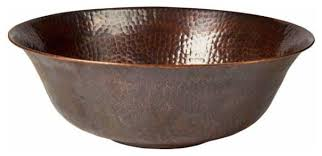 Hammered Copper Bathroom Sink Copper Factory Solid Hammered Copper Round Vessel Sink Antique