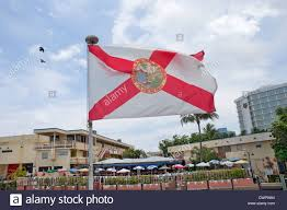 Florida State Flag Image Florida State Flag Flying Over A Waterfront Restaurant In Bahia