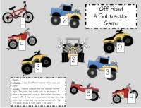 free picture directions for 12 math games printable