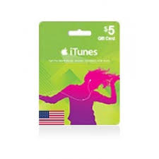 5 gift cards 5 dollar itunes gift card