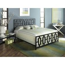 Iron Bed Frames King King Metal Bed Frame With Modern Square Tubing Headboard