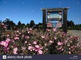 Fort Bragg Botanical Garden Sign Outside Entrance To The Gardens By The Sea Mendocino