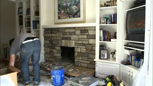How To Reface A Fireplace by Interesting Refacing A Brick Fireplace On Awesome Refacing Painted