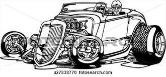 cartoon convertible car automobile car cartoon convertible rod hotrod clipart