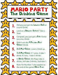 printable drinking games for adults how to throw a mario party party halloween costumes blog