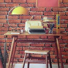 aliexpress com buy haokhome vintage faux brick wallpaper rolls