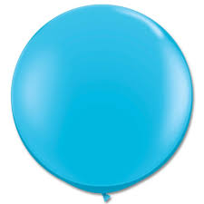 robin egg blue robin s egg blue latex party balloon 36 inch round inflated