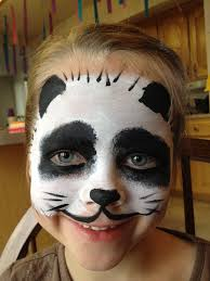 panda face painting by jennifer van face painting by