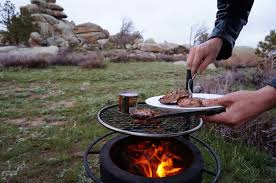 Cowboy Grill And Fire Pit by Fire Pit Cowboy Cooking In Wyoming Breeo