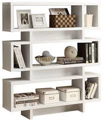Modern Bookcases White Modern Bookcase Bookshelf For Living Room Office Or Bedroom