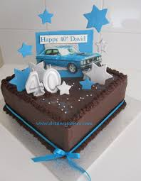 40th birthday cake dream car cake