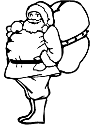 christmas coloring page santa u0027s bag of toys primarygames play