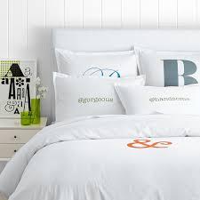 Monogrammed Comforters Make Your Mark Cotton Duvet Sham Personalized Or Monogrammed