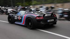 black porsche 918 porsche 918 spyder sound in monaco accelerations downshifts hd